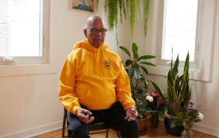 Senior Yogi in Meditation - Sivananda Yoga Centre Toronto