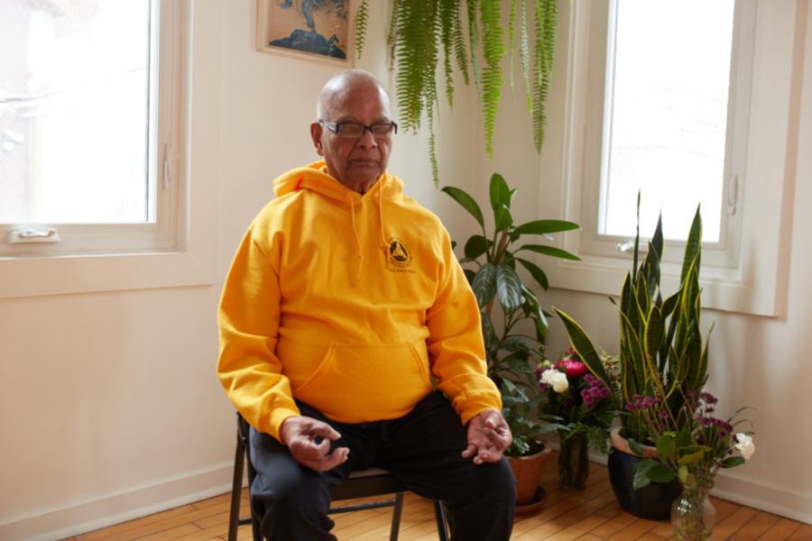 Senior Yogi in Meditation - Sivananda Yoga Centre Toronto