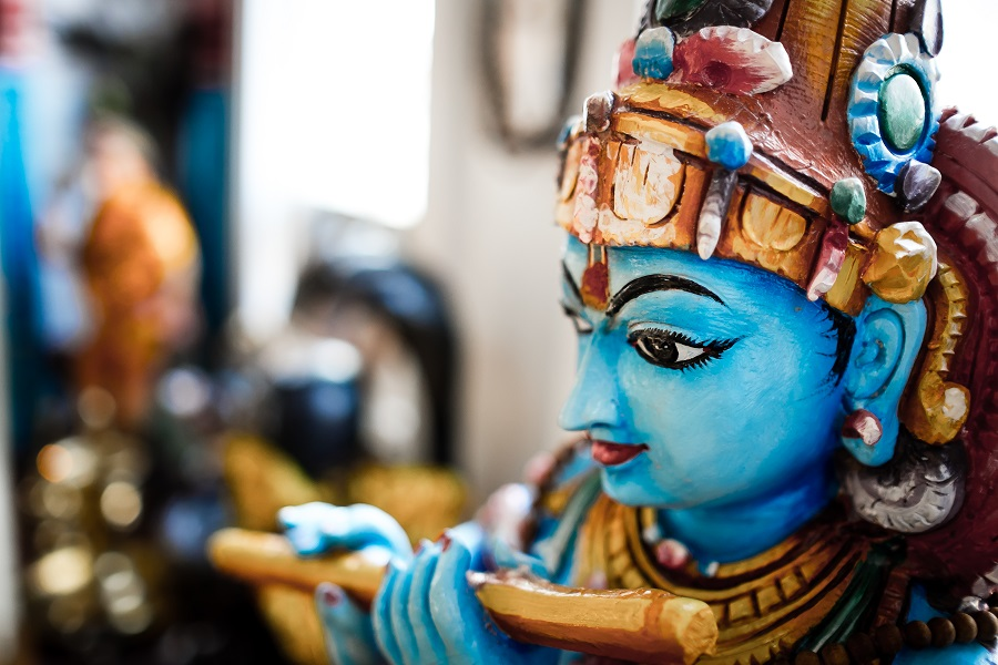 Krishna playing flute - Toronto Sivananda Yoga Centre