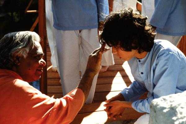 Swami Vishnudevananda and Kids Camp