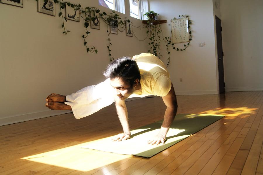 side crow yoga post - Sivananda Yoga Centre Toronto